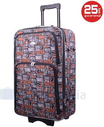 dd1637edbfcd8 Duża walizka PELLUCCI 773 L - Szary   Pomarańczowy - szary   pomarańczowy