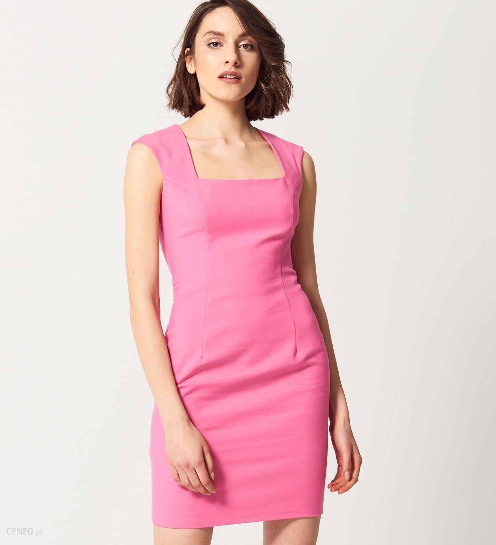 bac5c0f1b5 Mohito - Ołówkowa sukienka z geometrycznym dekoltem - Różowy - damski -  zdjęcie 1