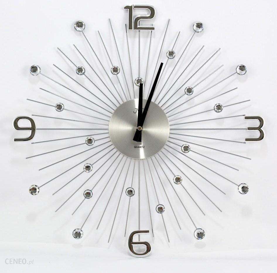 Jvd Zegar ścienny Metalowy 46cm Z Cyrkoniam Ht074 Opinie I