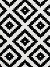 Dywan Czarno Biały Romby Ala Ikea