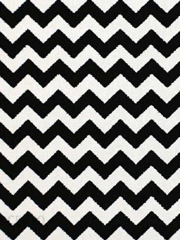 Dywan Czarno Biały Zygzak Ala Ikea