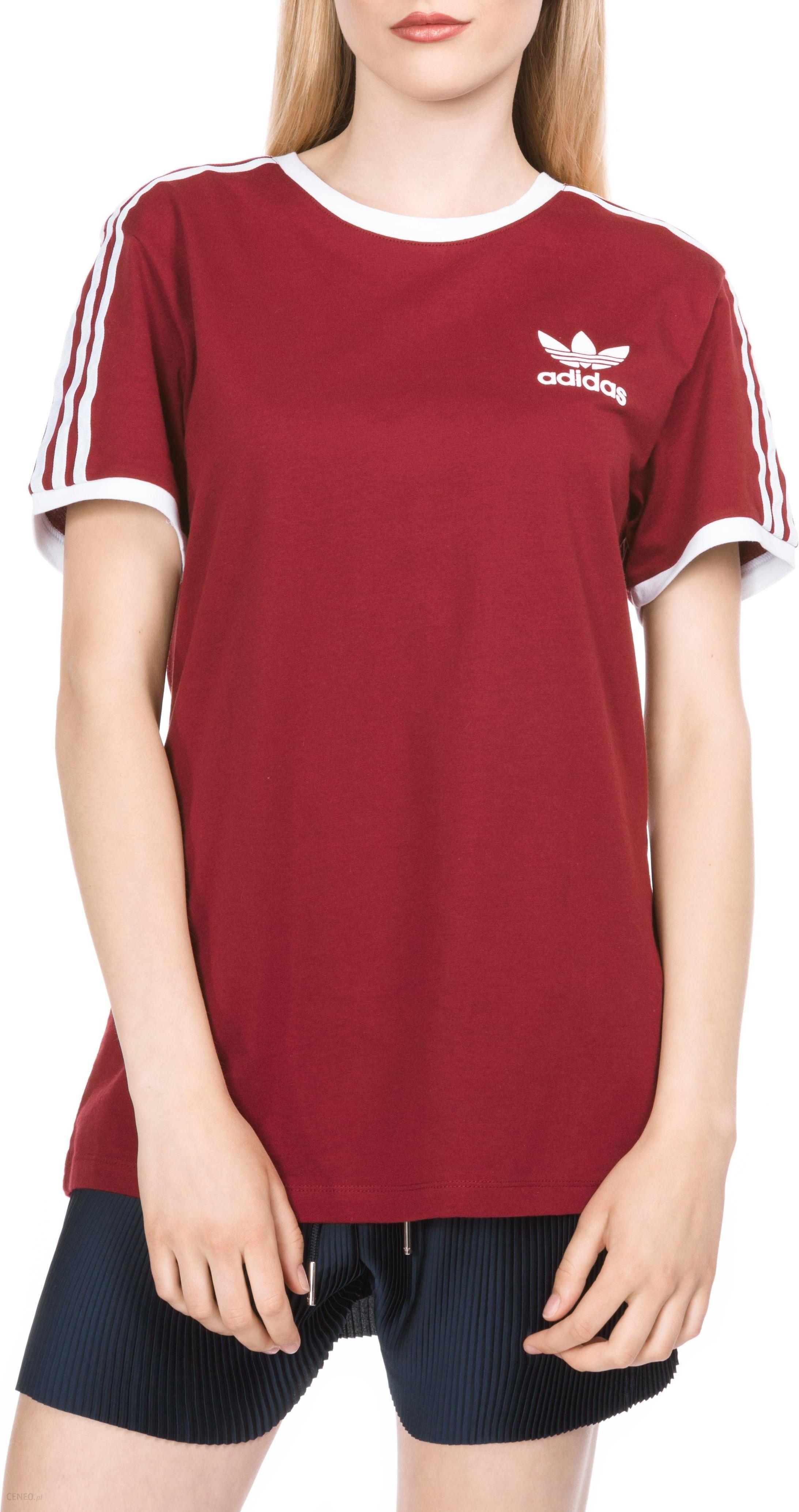 ADIDAS ORGINALS • 3 STRIPES TEE koszulka (bordowa)