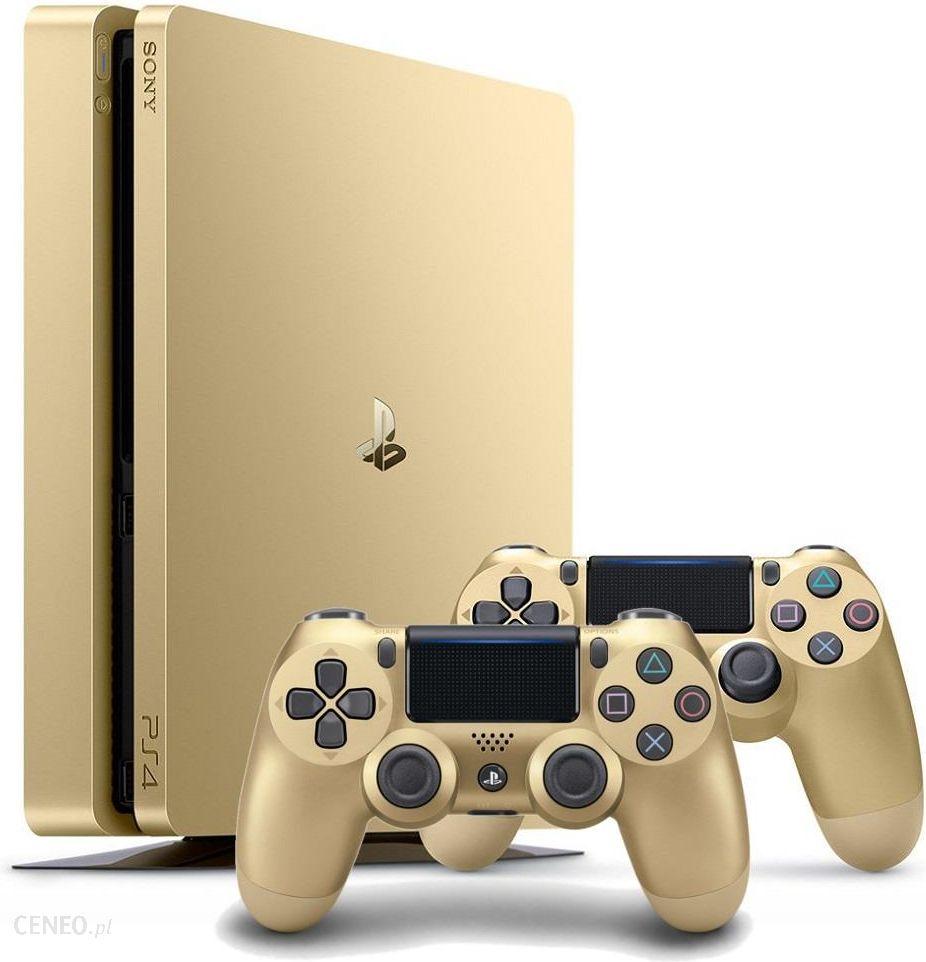 Konsola Sony Playstation 4 Slim 500gb Gold 2 Pady Ceny I Opinie Ps4 Edition Zdjcie