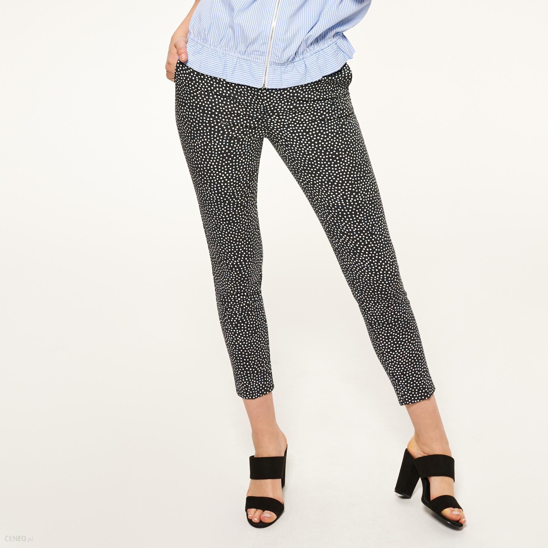 ac1f2640eb06 Reserved - Spodnie cygaretki we wzory - Wielobarwn - damski - Ceny i ...
