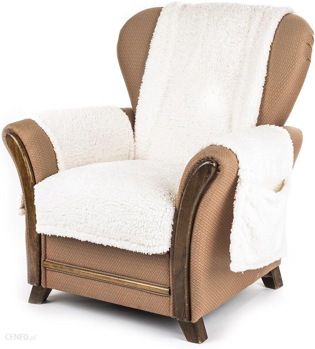 4home Narzuta Na Fotel Z Kieszeniami Kremowy 65x150 2 Szt 40x80