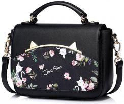 d0ac367015385 JUST STAR Dziewczęca torebka do ręki z wiosennej kolekcji Czarna ...