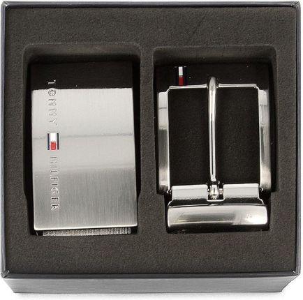 98bc00d93f494 Pasek Męski TOMMY HILFIGER - Doble Buckle Giftbox 3.5 Adjrev ...
