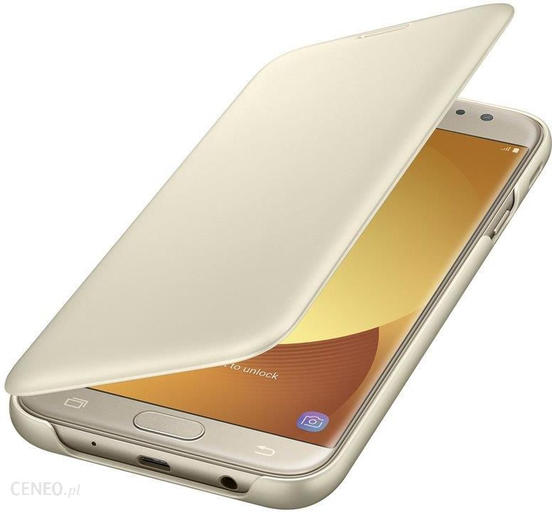 Samsung Wallet Cover do Galaxy J7 2017 Złoty EF WJ730CFEGWW