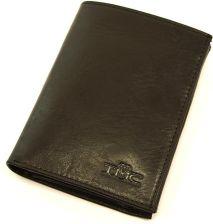 643ff11543521 Portfel Vintage by TMC 002 DeepBlack - Czarny \ Skóra juchtowa premium