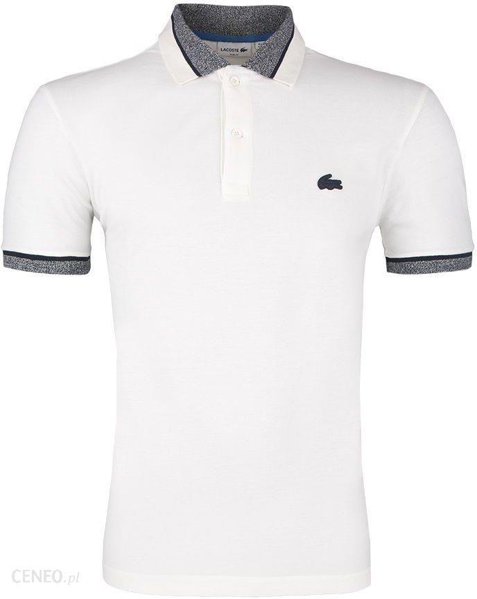 7d77b7dd5 Koszulka Polo Lacoste Silicone Crocodile Stretch White - Ceny i ...