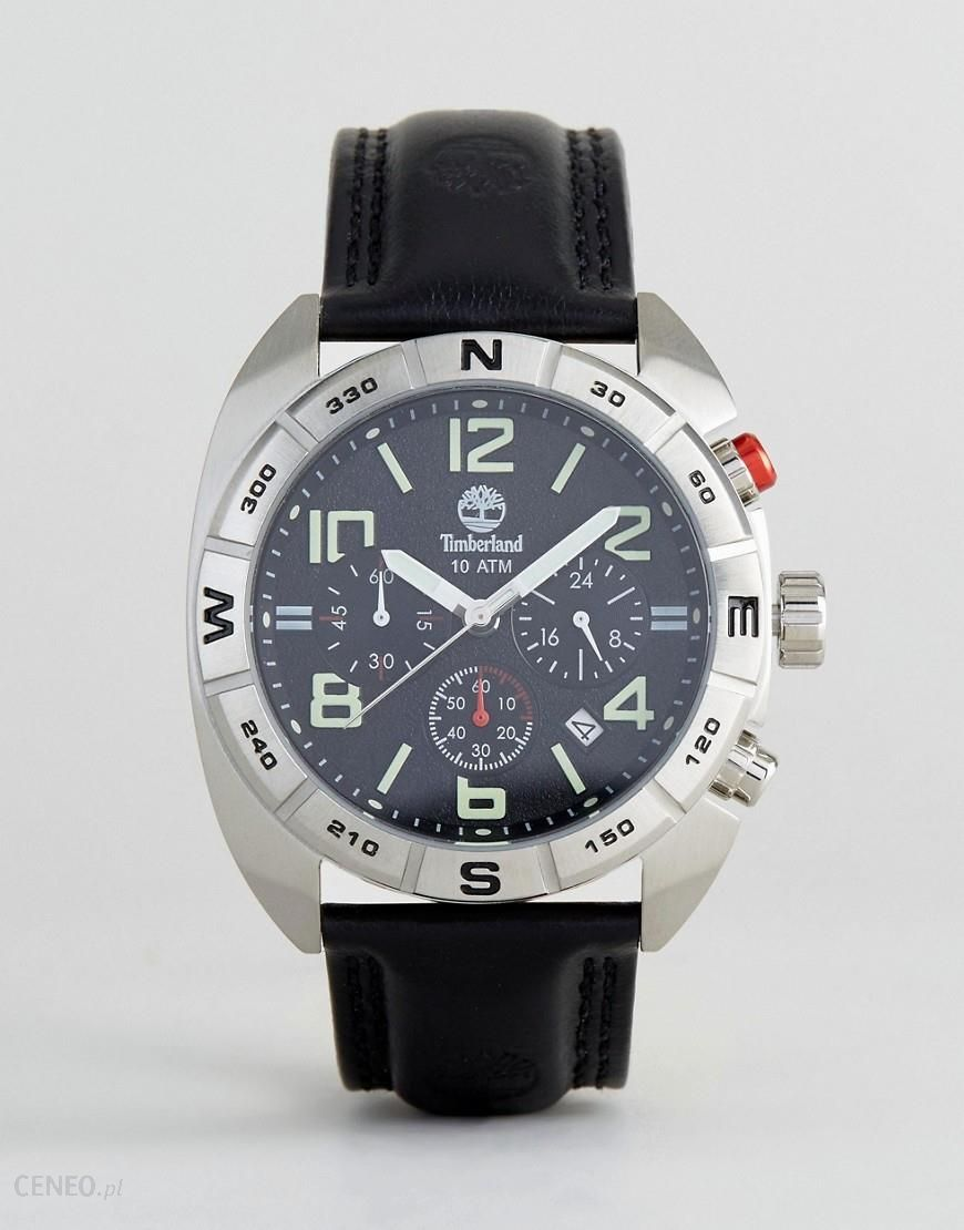 Timberland Oakwell Mens Watch Black Leather Strap With Black  Multi-functional Dial - Black - Ceneo.pl d5b772788a
