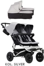 Mountain Buggy Duet 3  Silver Głęboko Spacerowy