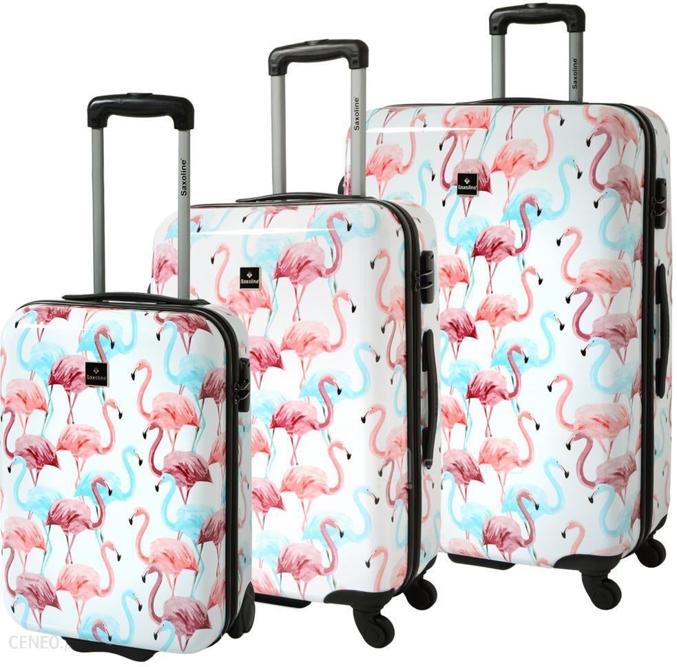 b920a9aa4d8c29 Saxoline Flamingo zestaw walizek / komplet / set - Ceny i opinie ...