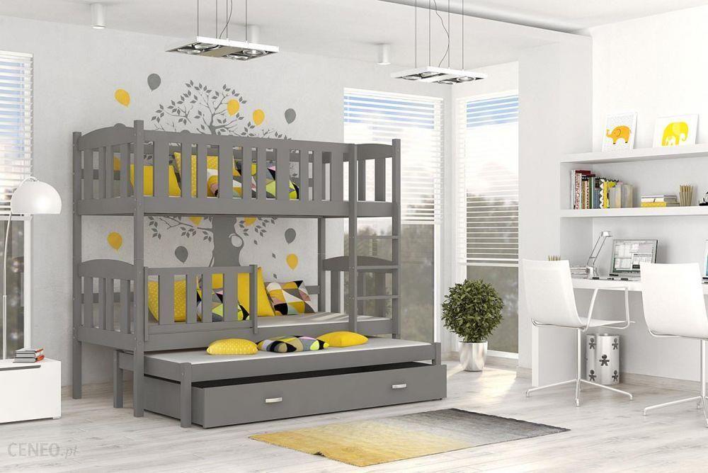 Kod Aj łóżko Piętrowe Kubuś 3 Mdf 3 Osobowe Szary