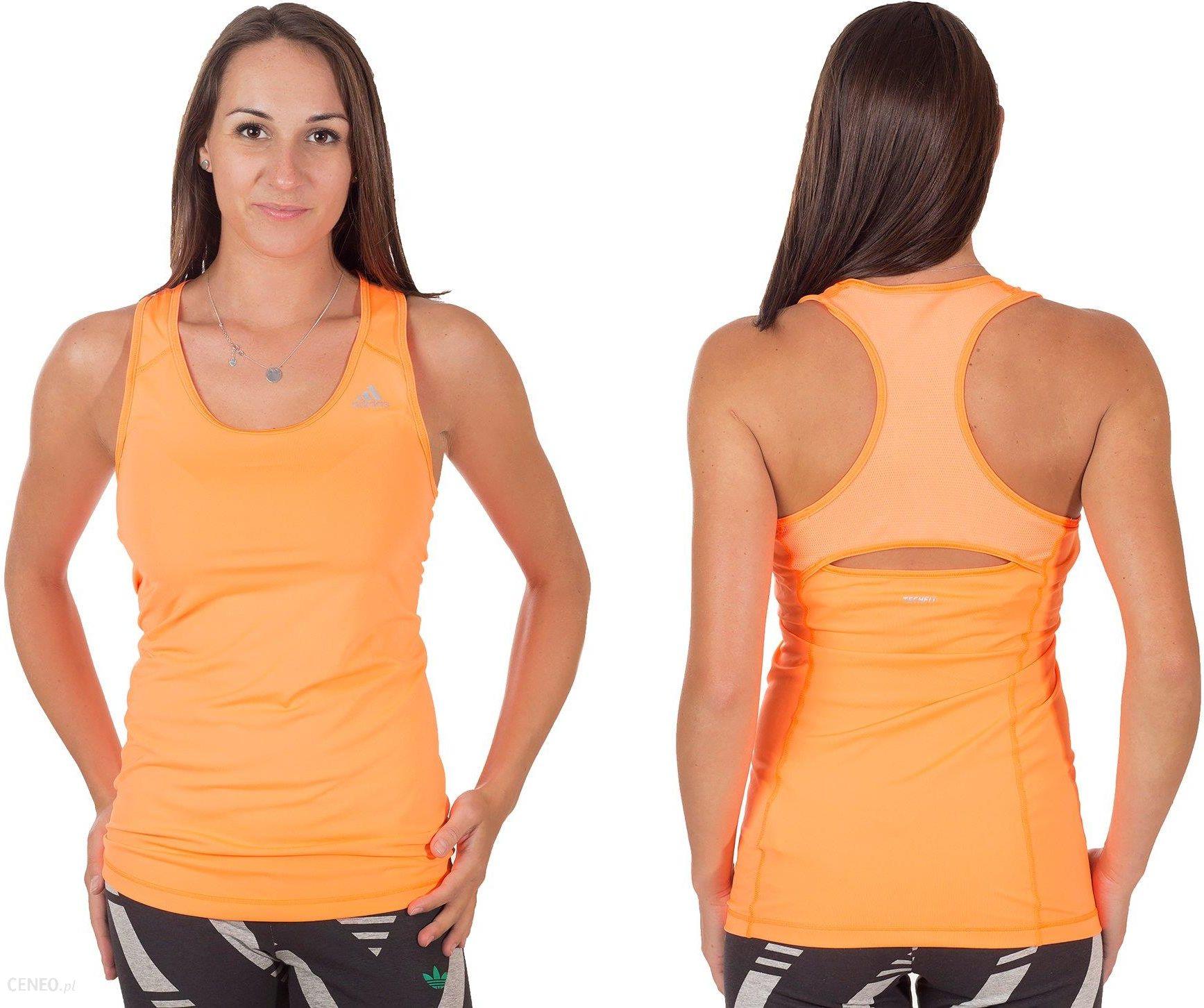 Adidas sportowy top, tank top damski niebieski
