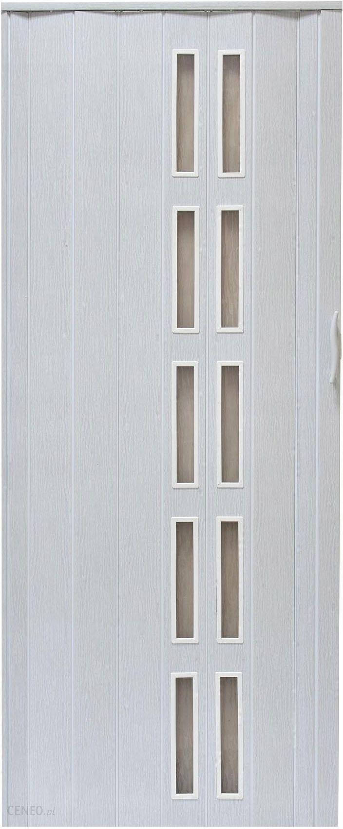 Drzwi Harmonijkowe Natura 005S 80 cm dąb biały DHARM001P8049