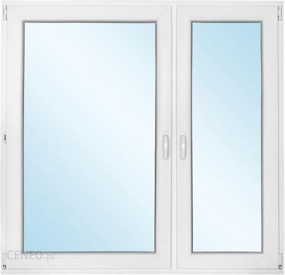 Okno PCV rozwierne + rozwierno - uchylne 1465x1435mm prawe