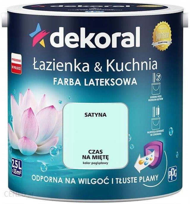 Dekoral Farba Satynowa łazienka I Kuchnia Czas Na Mięte 25l