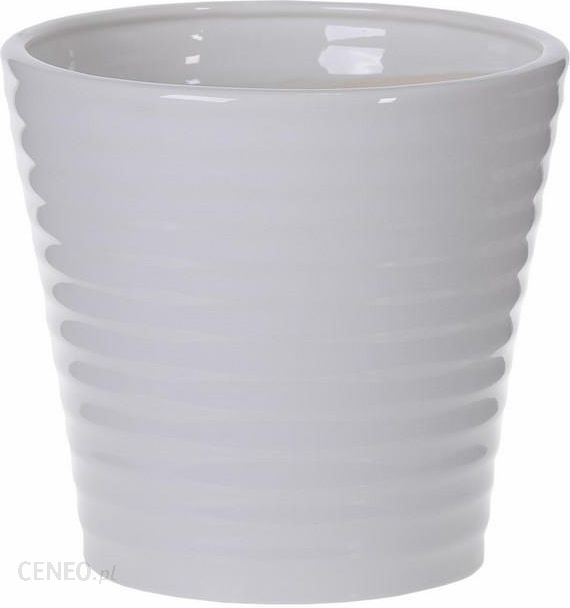 Osłonka Doniczki Ceramiczna Spirala 1 Biała 155 5903331006367 Ceny I Opinie Ceneopl