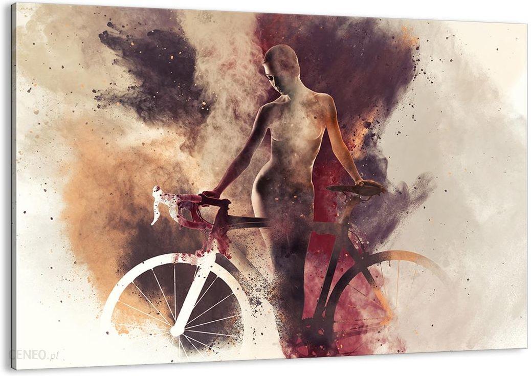 Obraz Na Płótnie Akt Rower Kobieta Aa70x50 3136