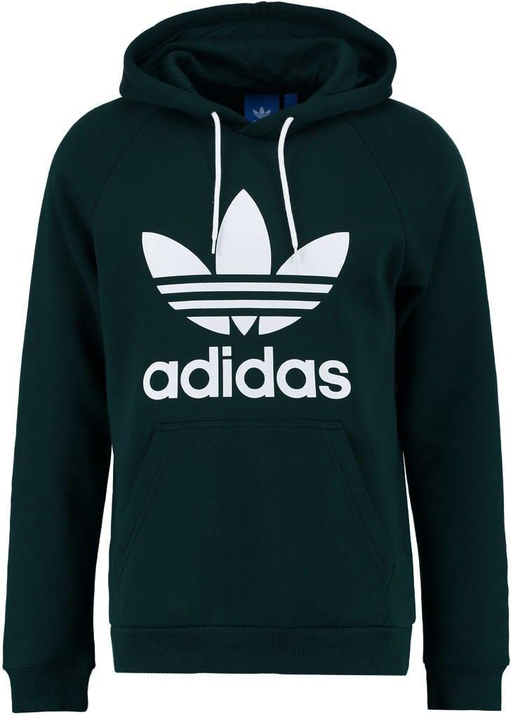 adidas Originals TREFOIL Bluza z kapturem green night