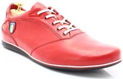 c63f1971adca9 KENT 511I CZERWONE Skórzane buty męskie sportowe casual