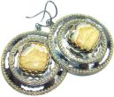 dcd4b4451 Large Natural Beauty Ocean Jasper Gold Rhodium plated over Sterling Silver  handmade Earrings