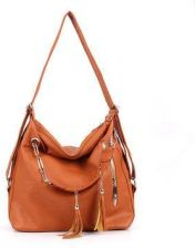 4e23d5d718 Women Retro Chain PU Leather Tassel Pendant Handbag Backpack Shoulder Bag -  zdjęcie 1