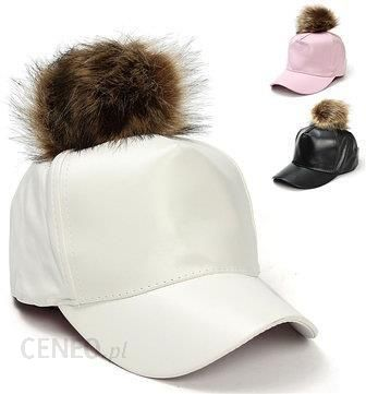 Men Women Fur Pom Ball Leather Adjustable Hat Baseball Cap - zdjęcie 1 252031ce0d42