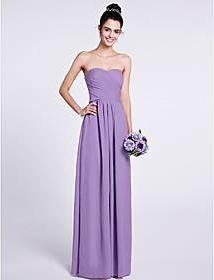 3f838397e4 LAN TING BRIDE Floor-length Chiffon Bridesmaid Dress - A-line Strapless    Sweetheart