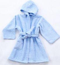 366e3514a01aa8 Szlafrok Greno dla Dzieci Niebieski rozmiary od 1,5 do 12 lat