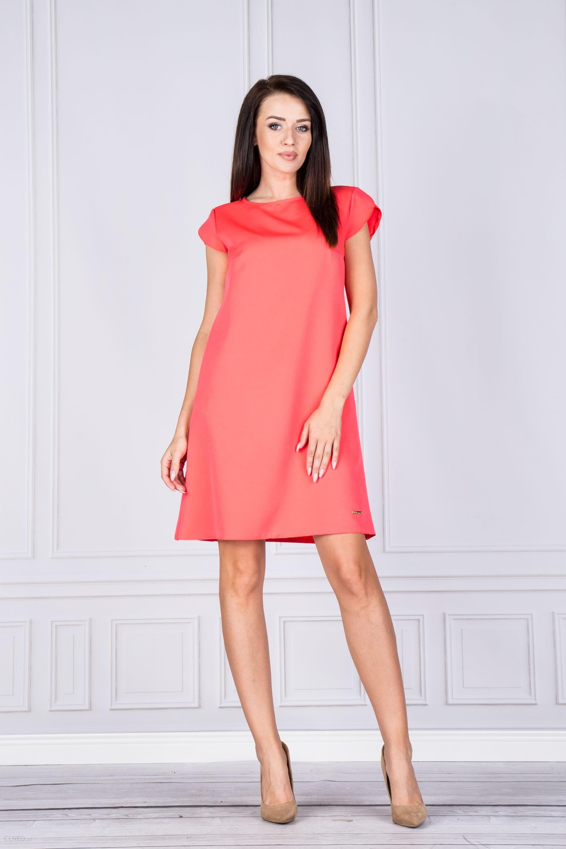 2738b1f9d4 PtakModa - Elegancka trapezowa sukienka ADIKA - Ceny i opinie - Ceneo.pl