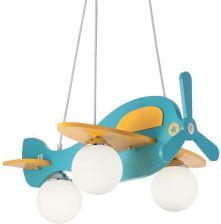 Ideal Lux żyrandol Avion 1 Sp3 Azzurro 136325 Niebieski Samolot