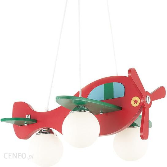 46419ff0 Ideal Lux Żyrandol Avion-2 Sp3 Rosso 136318 Czerwony Samolot