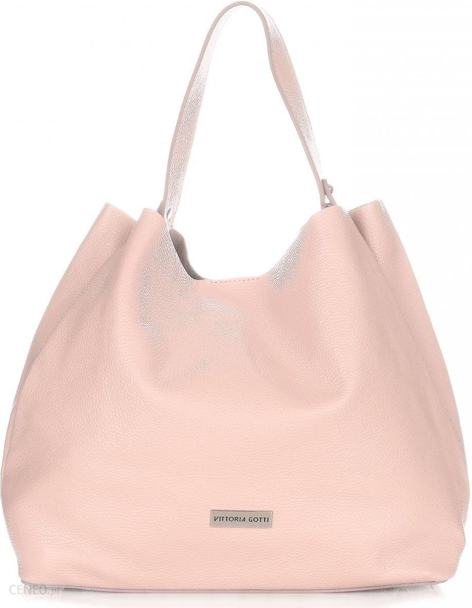 4111e7f4c394e Włoskie Torebki Skórzane ShopperBag XL firmy Vittoria Gotti Pudrowy Róż  (kolory) - zdjęcie 1
