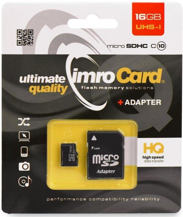 Karta Pamieci Do Aparatu Imro Microsd 16gb Microsdhc6 16g Ceny I