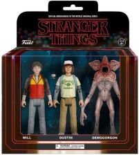 Funko Stranger Things 3 Pack Will, Dustin and Demogorgon Action Figures - zdjęcie 1