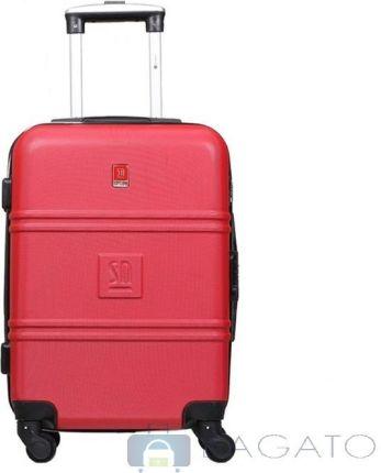 4d6eac53c24c9 Walizka Słoń Torbalski Art Class Collection kabinowa 4koła 26l 04-0401K -  czerwony