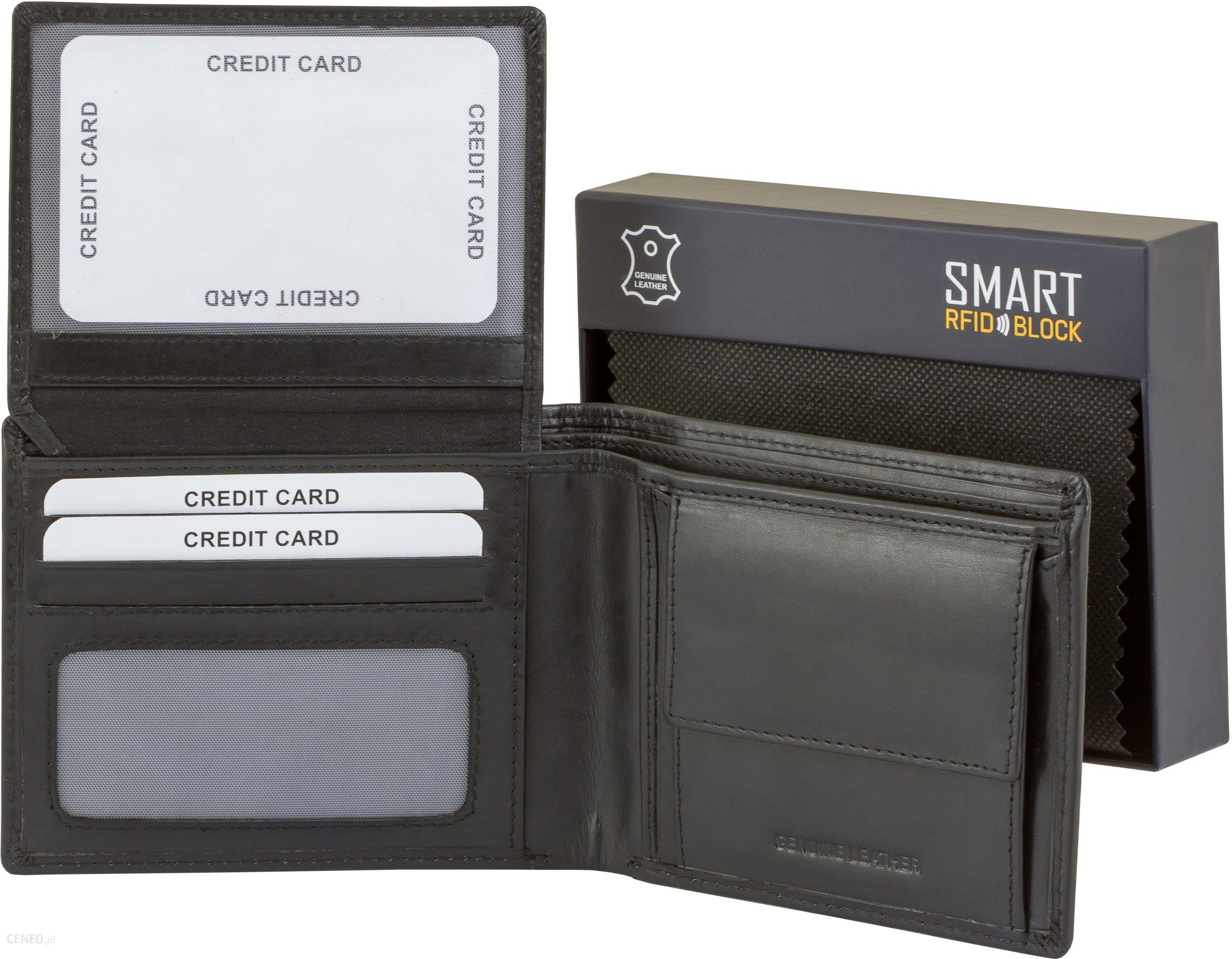 2da4a10c82590 Slim Męski Portfel Ochrona Kart PayPass Rfid - Ceny i opinie - Ceneo.pl