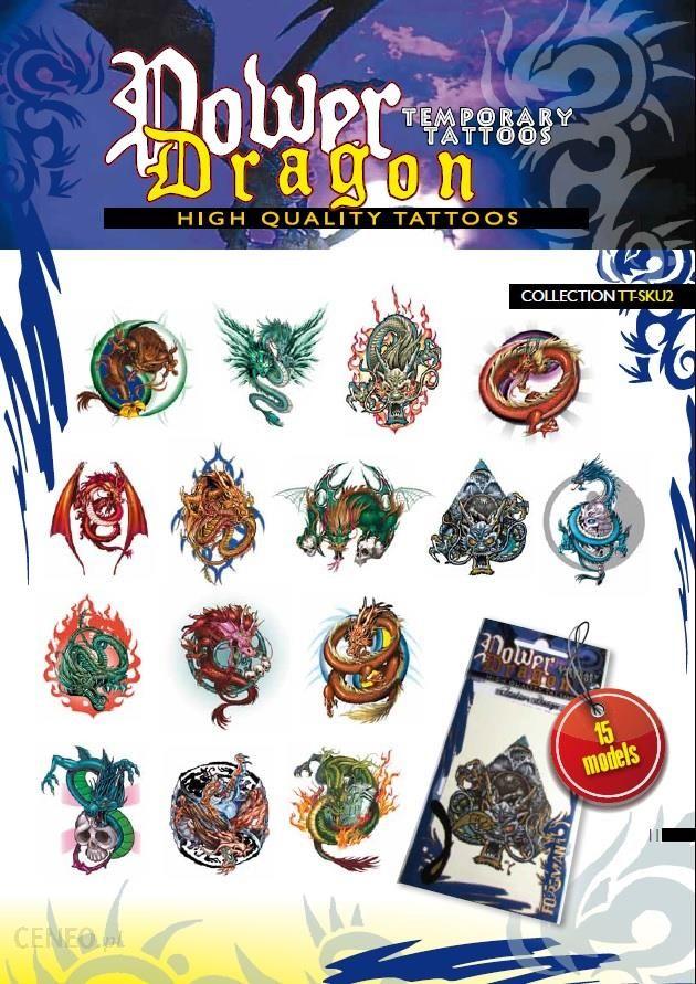 Tatuaż Tymczasowy Zmywalny Dragon 45szt
