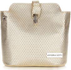 8996ff519f23b Elegancka Torebka Skórzana Listonoszka firmy Vittoria Gotti Made in Italy  Złota (kolory) ...