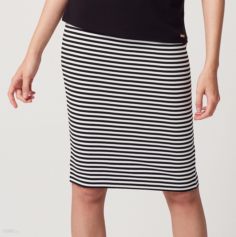 30d16ec3 Mohito - Ołówkowa spódnica w poziome paski - Czarny - damski