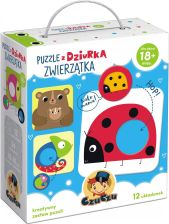 Czuczu Puzzle Z Dziurką Zwierzątka Bright Junior Media (6733)