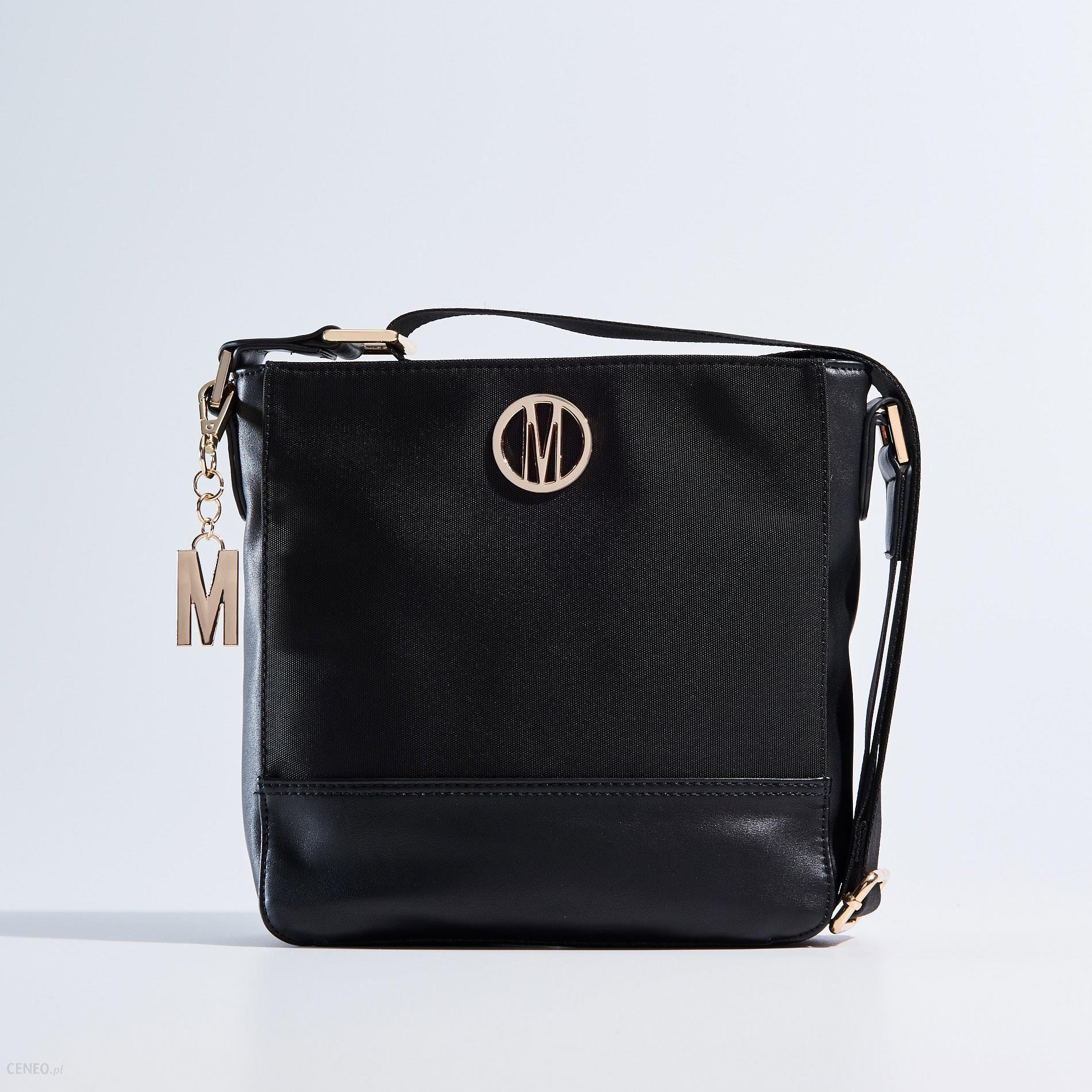 b917d8b873c82 Mohito - Czarna materiałowa torba listonoszka - Czarny - damski - zdjęcie 1