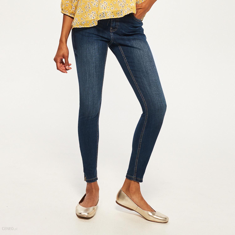 c79091c4 Reserved - Jeansy z zamkami przy nogawkach - Granatowy - damski