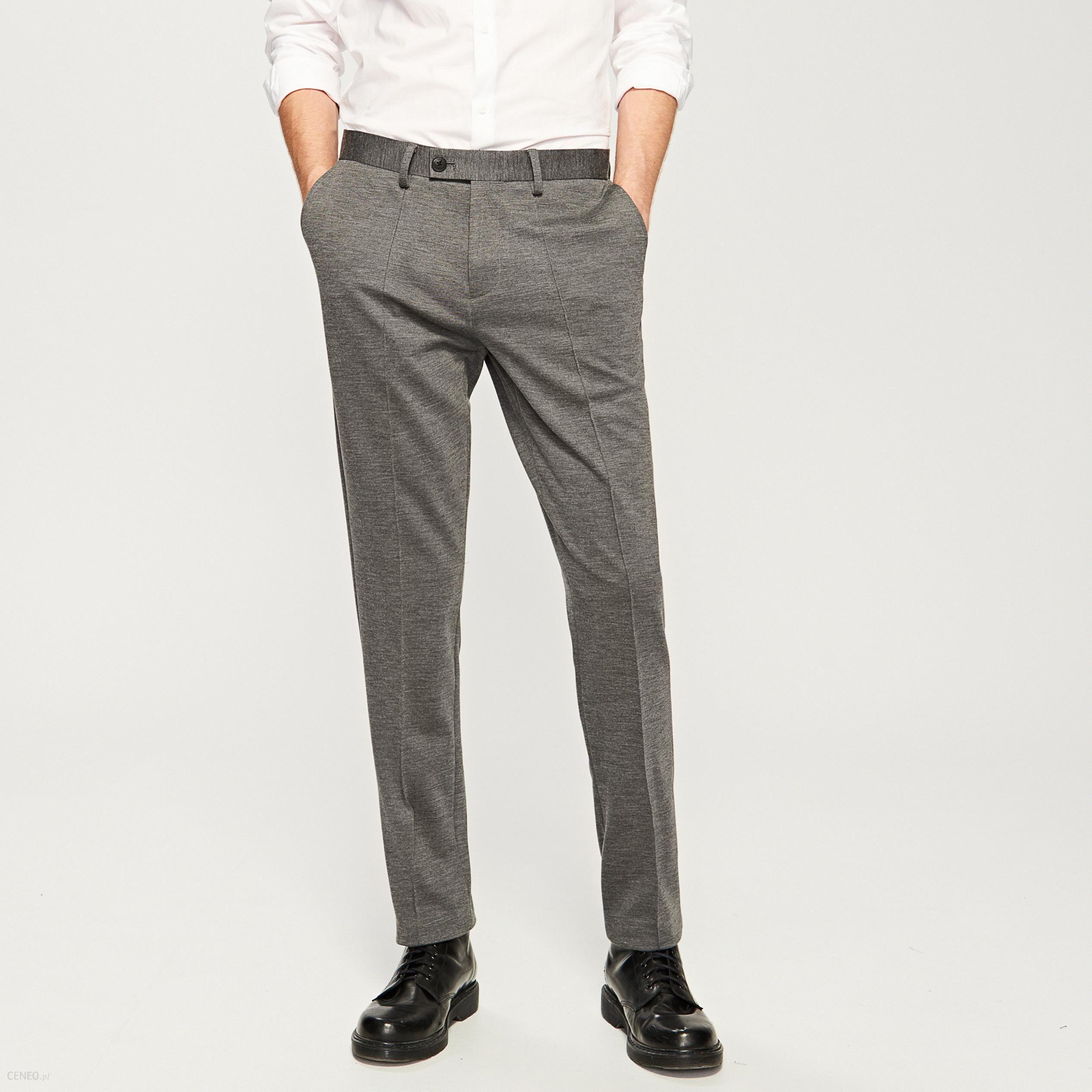 a5e5804a07b0b Reserved - Eleganckie spodnie - Szary - damski - Ceny i opinie ...