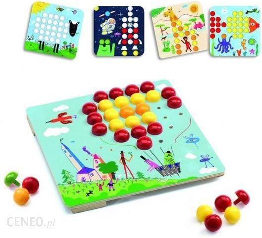 Tylko na zewnątrz Djeco Kolorowa Mozaika Maxi Zestaw Kreatywny Dla Dzieci (Dj08141 HG81