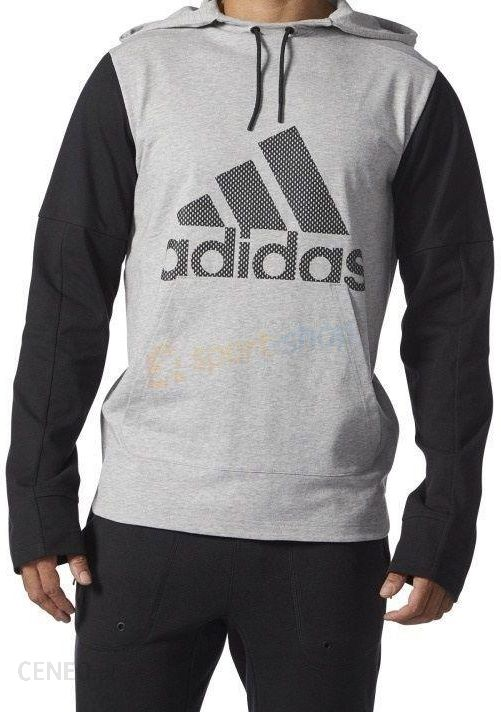 bluza adidas męska szaro czarna