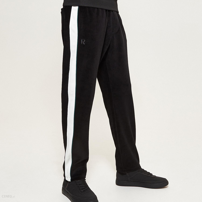 Reserved Spodnie z lampasem Czarny damski