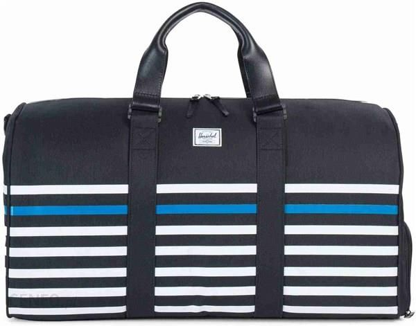 c4f8645705e Plecak Herschel Novel Offset Stripe Black Veggie Tan Leather 01173 - zdjęcie  1